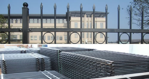 Security Fencing with Pressed Spear Top