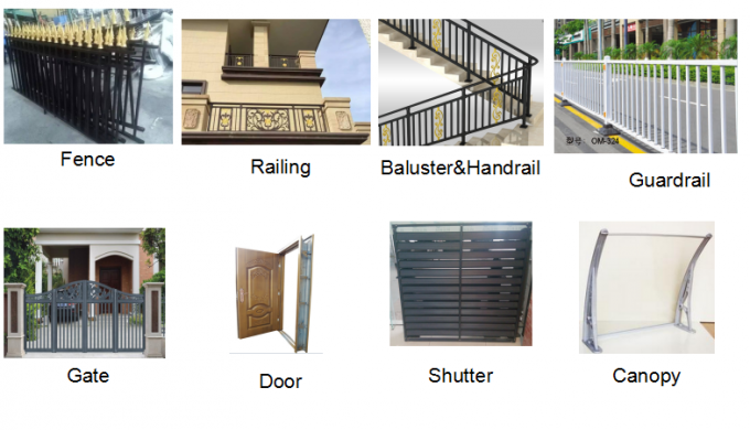 Customized Powder Coating Steel Fence and Steel Gate Designs