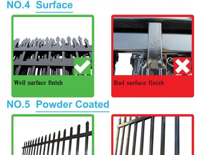 China Supplier Black Metal Tubular colorbond steel fence for au