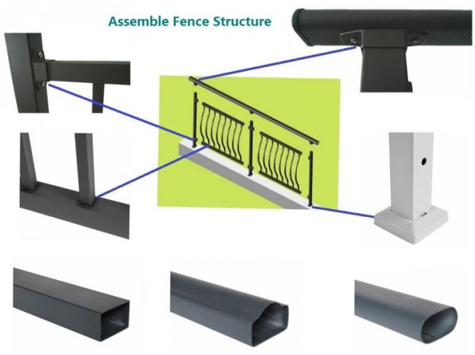 China Factory Customized Anti-Corrosion Zinc Steel Assembled Decorative Picket Grassland Pool Fence