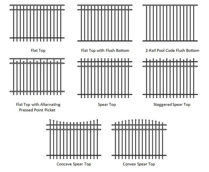 Hercules Fence Panels 45° Mitre 1800mm height 2450mm Steel Picket Fence Interpon coated 80 microns minimum powder