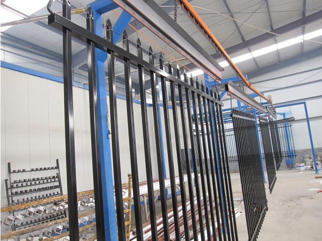 1800mm x 2400mm  Hercules Fence / garrison fence / modern fence gate design Black and Blue powder coated