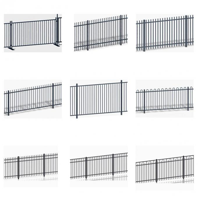 Powder Coated Steel Spear Top Garrison Secutiry Fence