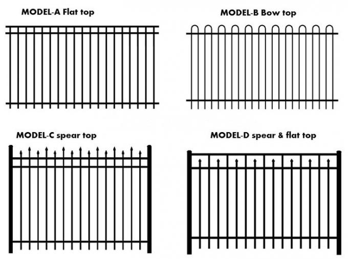 Tubular Fencing Diplomatic Black Steel Fence Panel