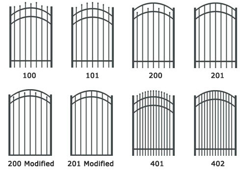 Powder Coated Steel Garrison Security Fencing