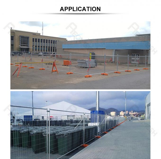 2.1mx2.4m OD 40mm x 1.5mm wall thickness mesh 60mm x 150mm heavy duty design construction site temporary fence panels