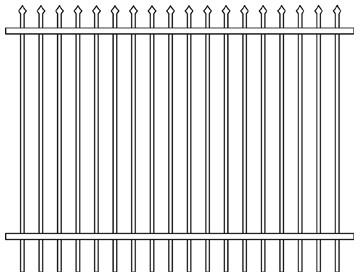 Good Quality Commercial Industrial Steel Security Palisade Fencing