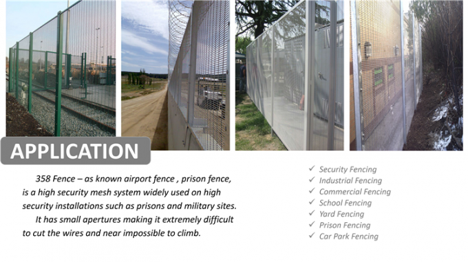 South Africa Anti Climb Galvanized Steel Wire Prison Mesh 358 Security Fence