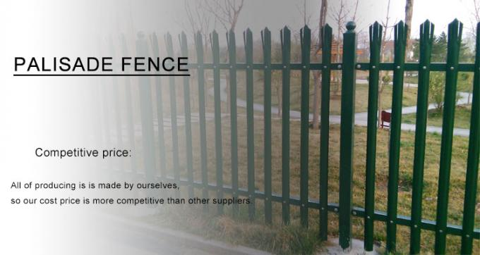 2.4m Height x 2.75m Width Palisade Fencing Panels Powder Coated Black HOt dipped Galvanized