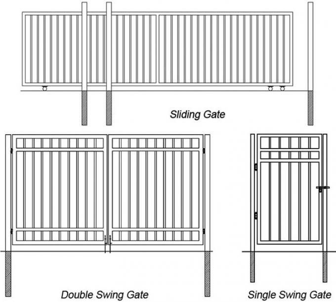 "5ftx7ft tubular fence panels come with 2""x2"" tubing US standard supplied"