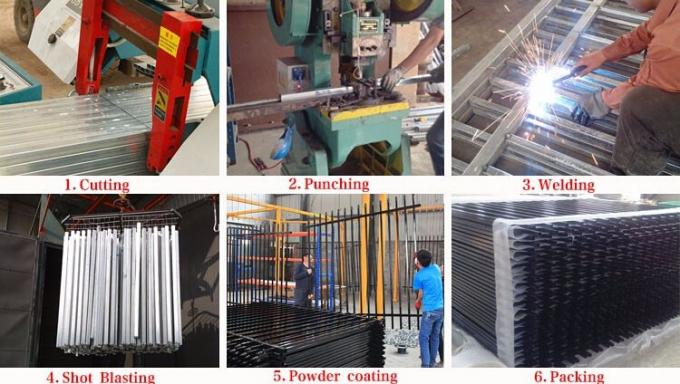 Tubular Steel Fencing Panels 2000mm Height come with 32mmx32mm tubing vertical 19x25mm