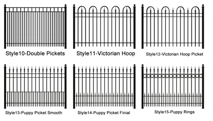australia Spear Head tubular steel fence / Spear Head steel fence / australia cheap wrought iron fence panels for sale