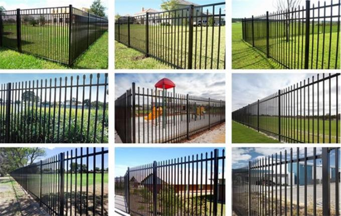 Beautiful iron gate and metal fence wrought iron zinc steel fence panels
