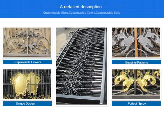 wrought iron fence panels/used wrought iron fencing