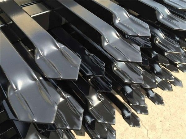 Steel Picket Fence ,High Quality Coated Black Interpon Powder
