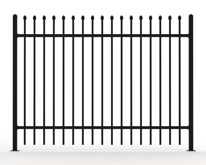 Tubular Steel Fence 1500mm height x 2400mm width, Garrison and Hercules Design available