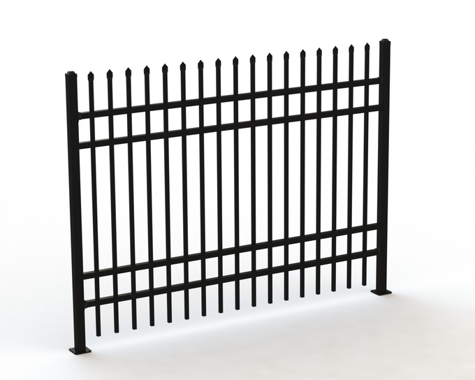 Hercules Security Tubular Fence 1800mm x 2400mm for sale China Supplier ,Crimped Spear Fence,2 rails x 40mm x 40mm