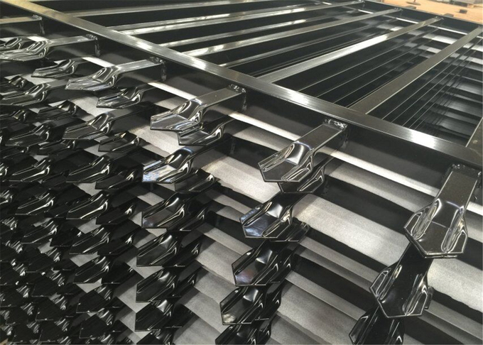 1800mm*2350mm width tubular hercules fencing panels ,garrison panels rail 50mm*50mm*1.6 thick  for commerical building