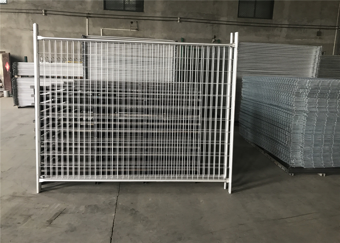 14 microns /100gsm pre-gal 3.00mm wire spacing 60mm x 150mm Outer 32mm*1.4mm 2100mm*2400mm light duty temp fence panels