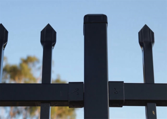 garrison fence panels spear crimped design 1800mm height and 3000mm width