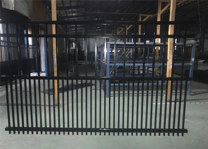 Garrison Fencing Panels 2.4m*2.4m width Upright picket 15 pieces Spacing 130mm Rail 40mm wall thickness 1.6mm